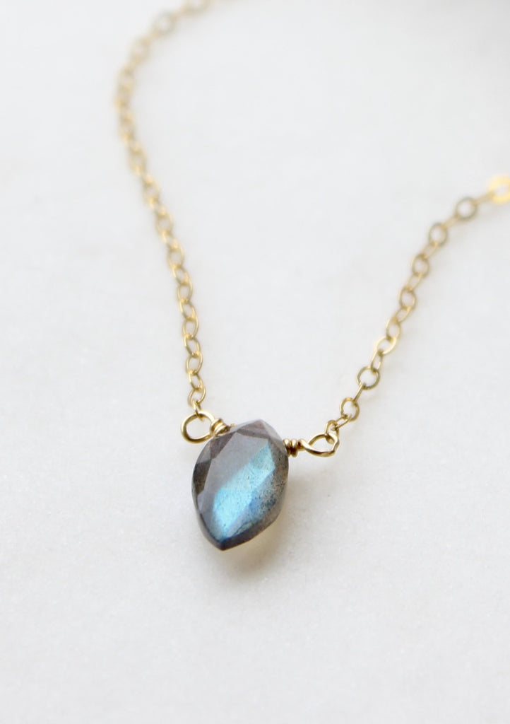 Labradorite Marquise Necklace