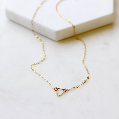 TINY Open Triangle Necklace
