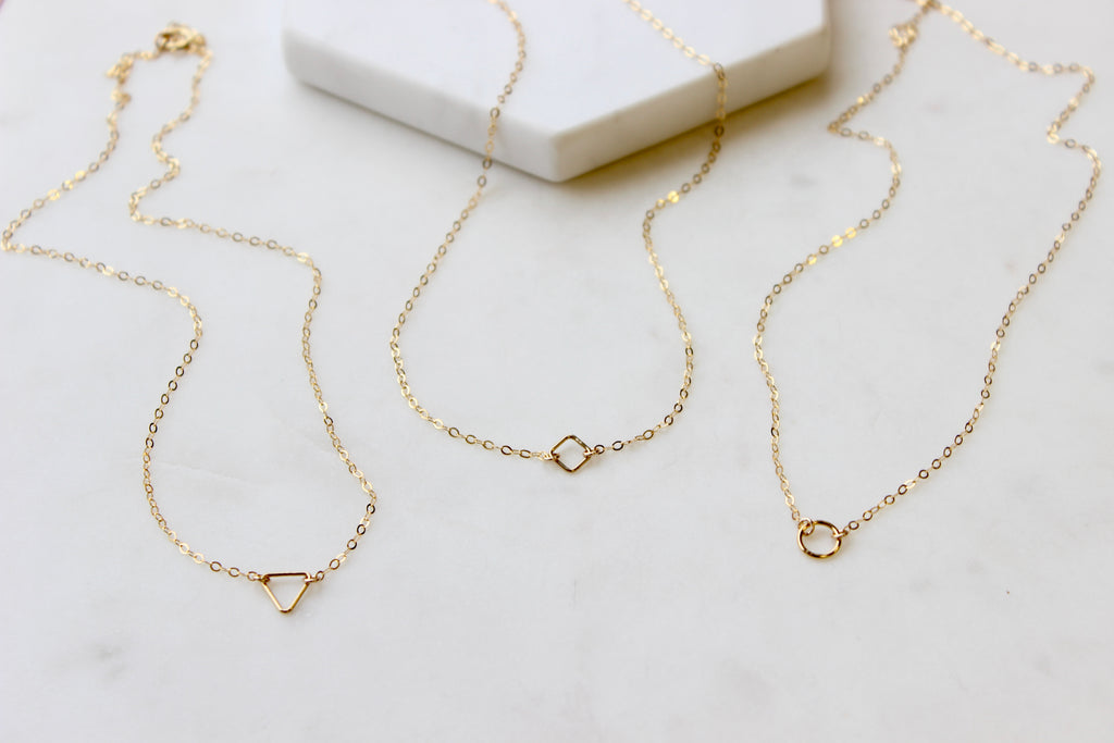 TINY Open Diamond Necklace