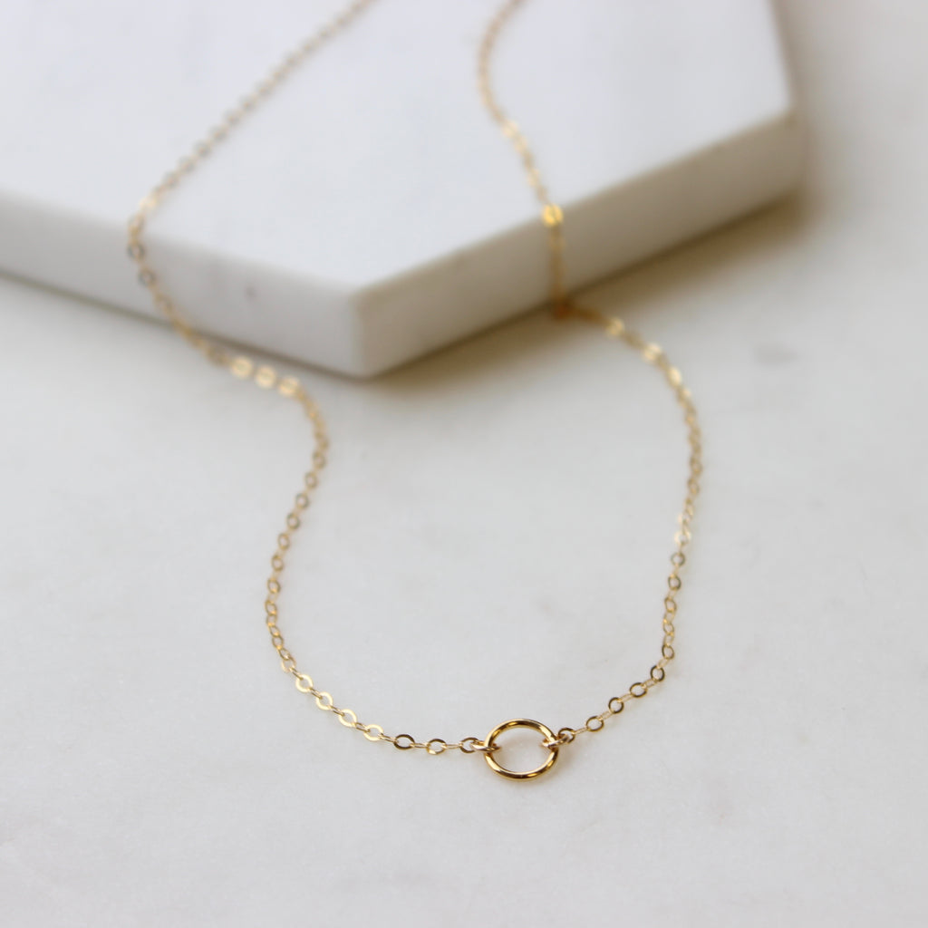 TINY Open Circle Necklace