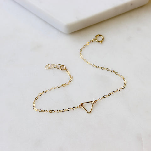 TINY Open Triangle Bracelet