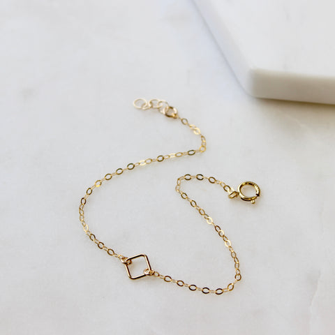 TINY Open Diamond Bracelet