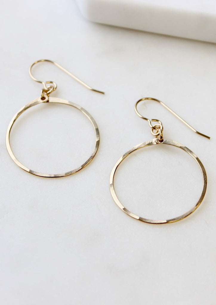 Small Flat Circumference Hoops
