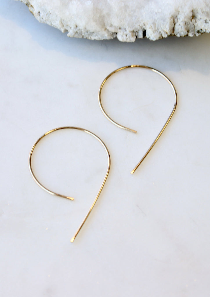 Inverted Swoop Earrings
