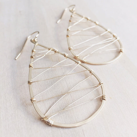 Snowshoe Earrings