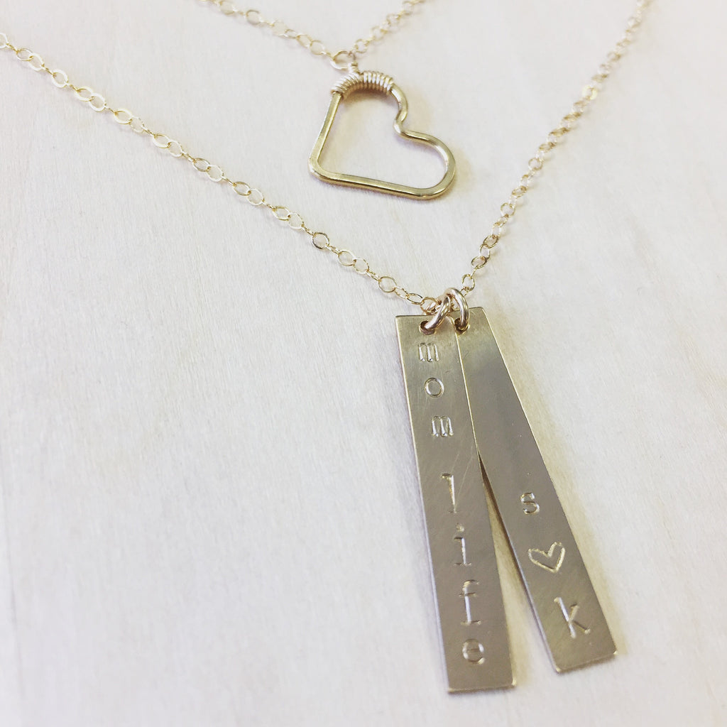 Vertical Mantra Bar Necklace