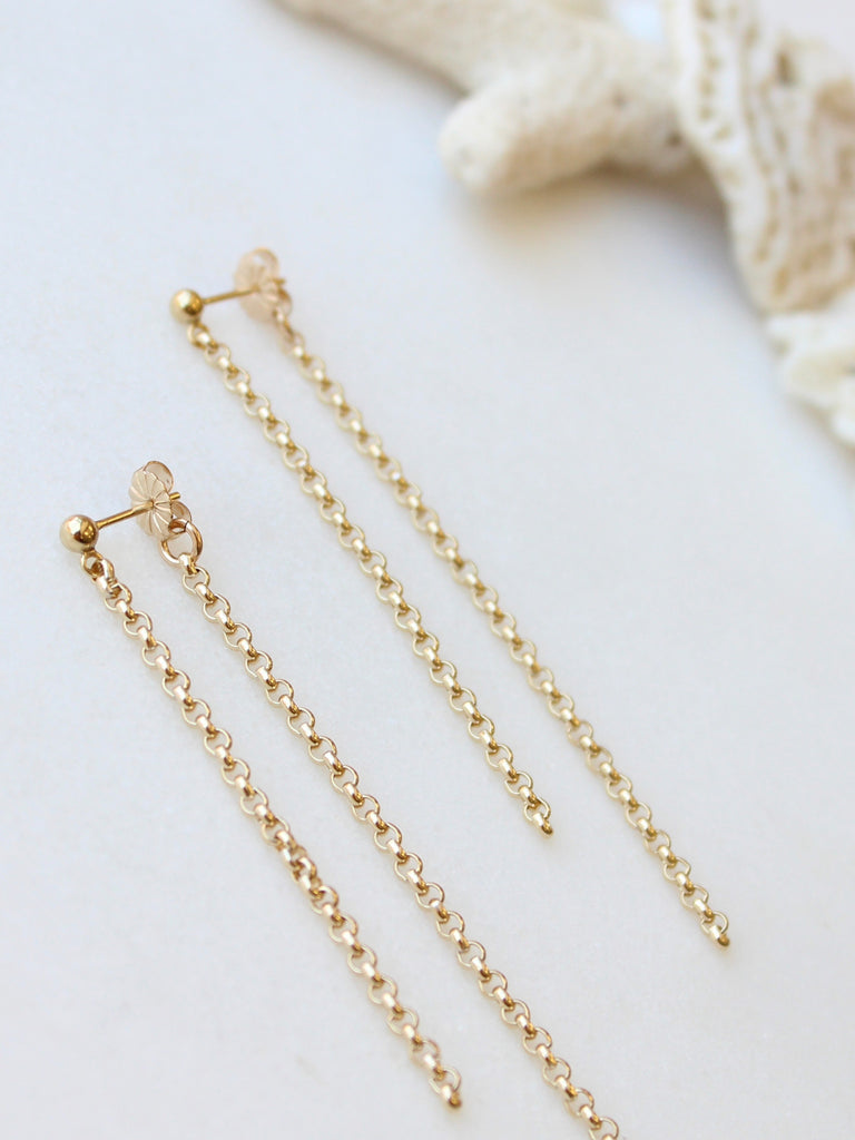 Waterfall Rollo Chain Earrings