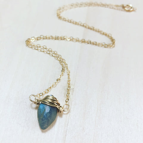 Labradorite Dagger Necklace