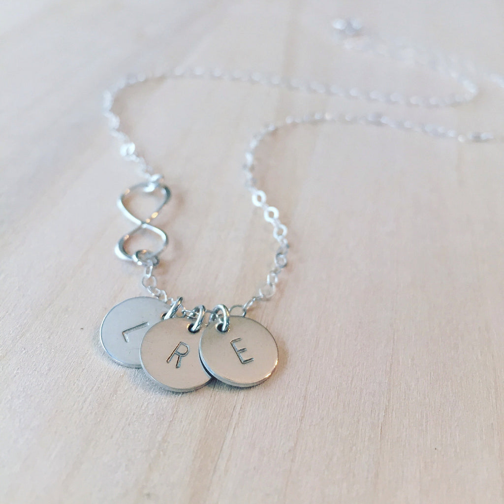 Infinity + Initials Necklace