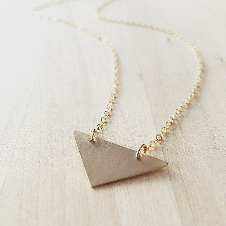 XL Brushed Triangle Necklace