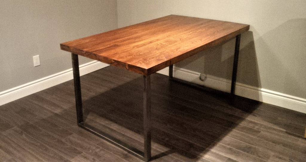 Custom Desk With Maple Hardwood Top