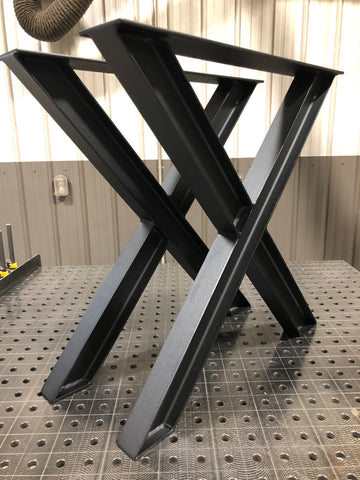 I-Beam X-Frame Metal Table Legs