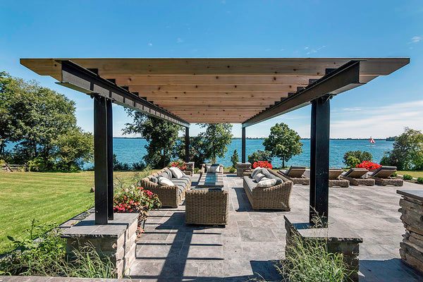 Black & Smith Ironworks - Steel Pergola 2