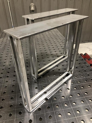 Square Metal Bench Legs