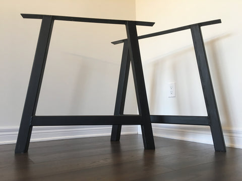 Black & Smith Ironworks - Steel A-Frame Table Legs (Industrial, Modern, Rustic)