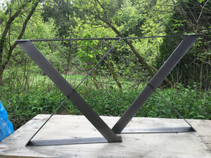 Twisted X Metal Table Legs
