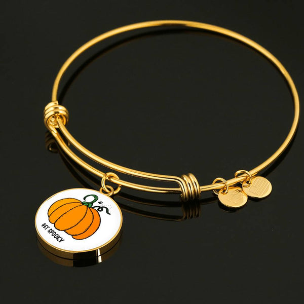 Limited Time Fall Bangle - Get Spooky Pumpkin