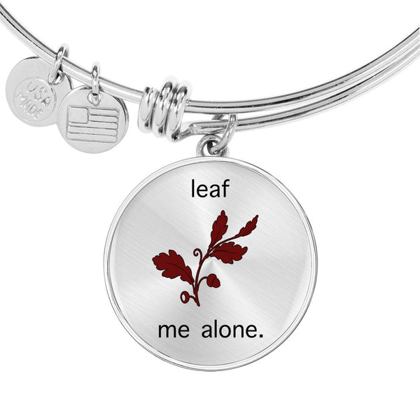 Limited Time Fall Bangle - Leaf Me Alone