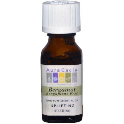 Aura Cacia Bergamot BF (Bergaptene-Free), Essential Oil, 1/2 oz. bottle