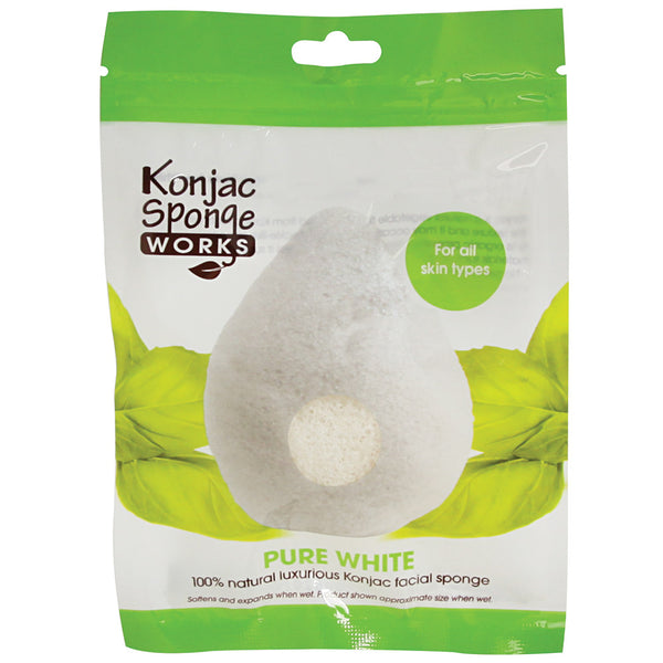 Konjac Sponge Works Pure White Facial Sponge