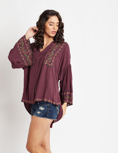 Gypsy Love Blouson Tunic MDAQ26