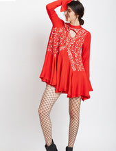 Load image into Gallery viewer, Color Me Red Tunic Dress - MDSA60R