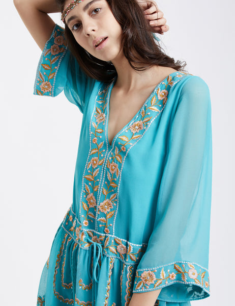 Embroidered Tunic Dress MDSA65
