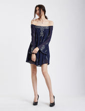 Load image into Gallery viewer, Stunning Beaded and Embroidered Off the Shoulder Tunic Dress MDSA71