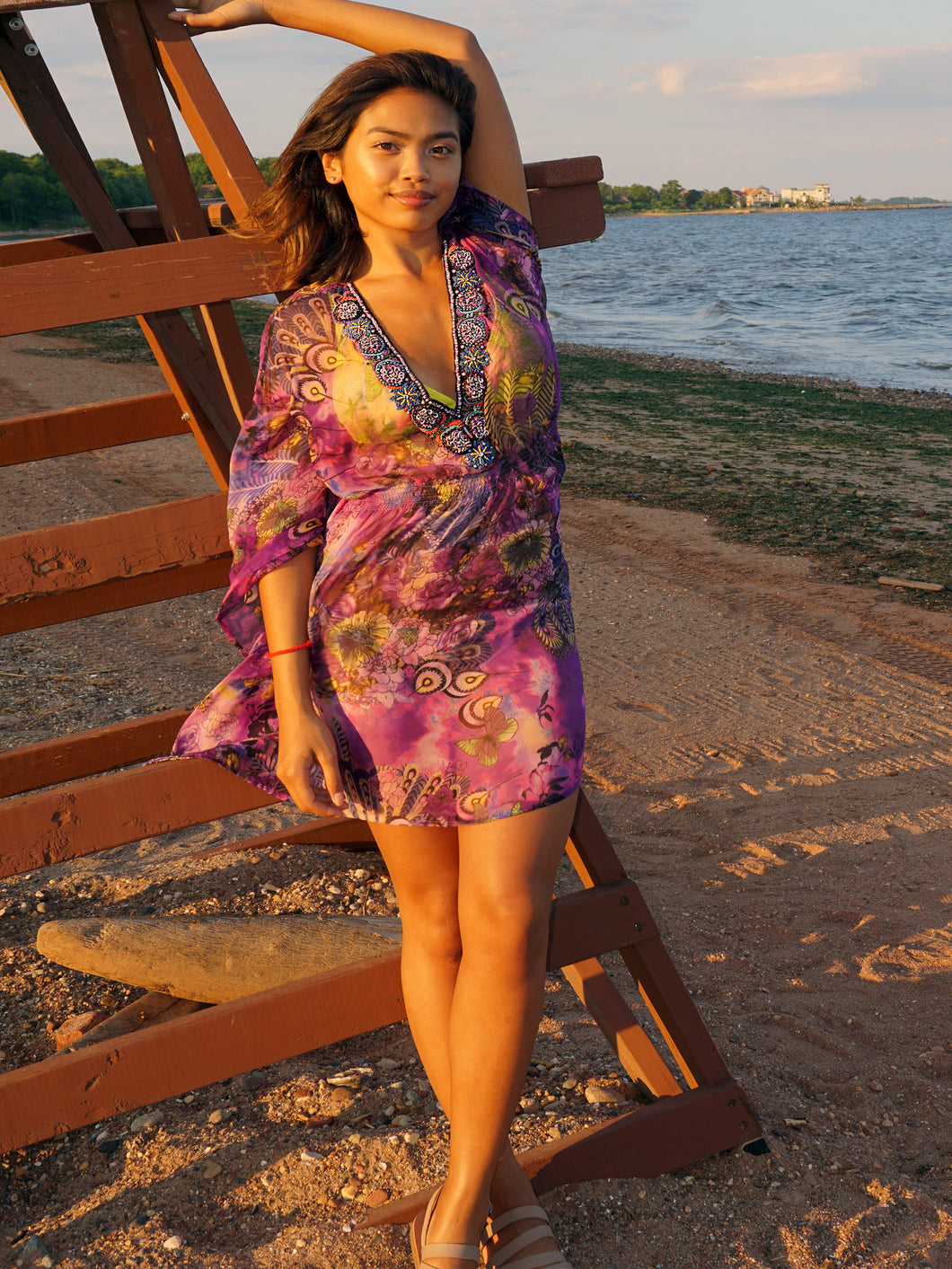 Mini Kaftan Dress