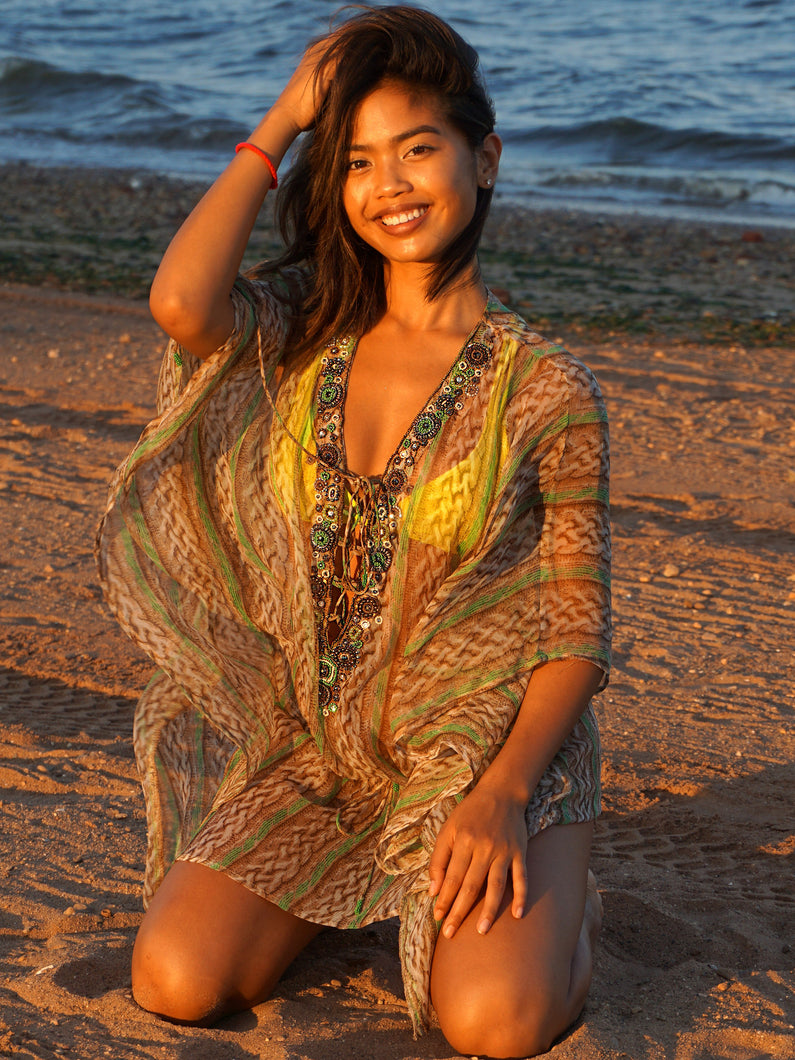 Boho Chic Beach Swim Cover