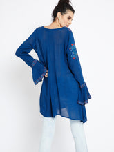 Load image into Gallery viewer, Urban Chic Long Sleeve Embroidered Tunic MDAQ08B