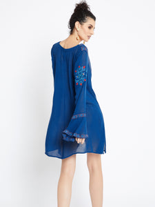 Urban Chic Long Sleeve Embroidered Tunic MDAQ08B