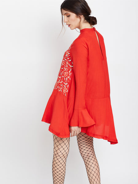 Color Me Red Tunic Dress - MDSA60R