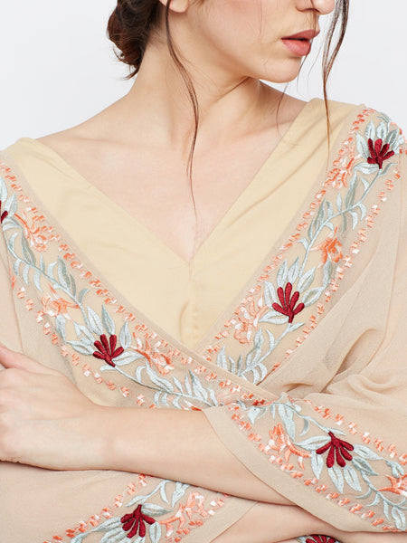 MDSA64 Bare It Embroidered Blouse