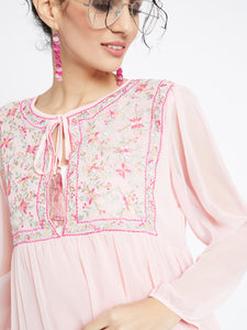 Pretty In Pink Tunic Dress MDSA8715