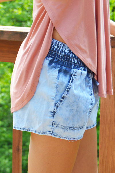 Sand Dollar Chambray Shorts - FINAL SALE - NO RETURN OR EXCHANGE