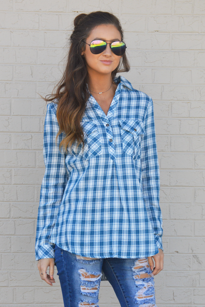 Coming Back Home Plaid Top - FINAL SALE - NO RETURN OR EXCHANGE