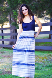 Ocean Waves Maxi Dress