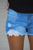 Very Lacey Crochet Pocket Shorts