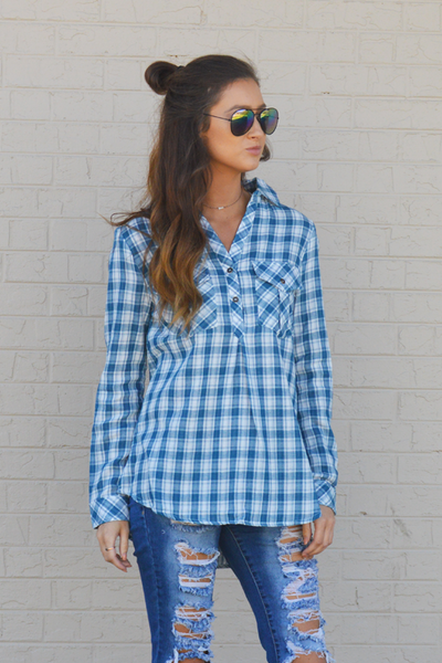 Coming Back Home Plaid Top