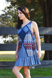 Patchworks Dress - Blue - FINAL SALE - NO RETURN OR EXCHANGE
