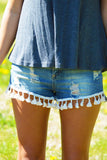 Tassels My Love Denim Shorts