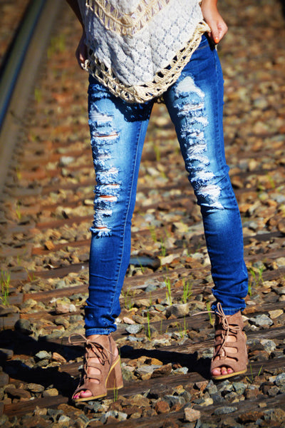 Loved N' Torn Skinny Jeans (Out of Stock)