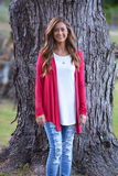Key To Simplicity Cardigan - Red