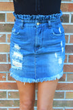 Find Your Journey High Waist Denim Skirt