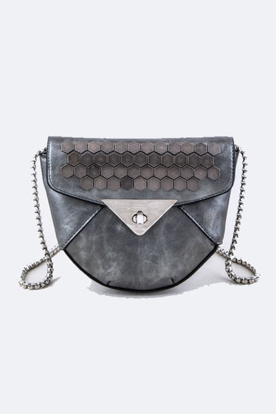 Downtown Lights Crossbody Purse - Gray