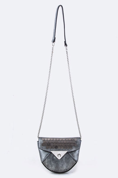 Downtown Lights Crossbody Purse - Bronze