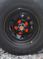 Loose Wheel Nut Indicators showing unsafe pattern