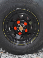 Loose Wheel Nut Indicators showing safe pattern