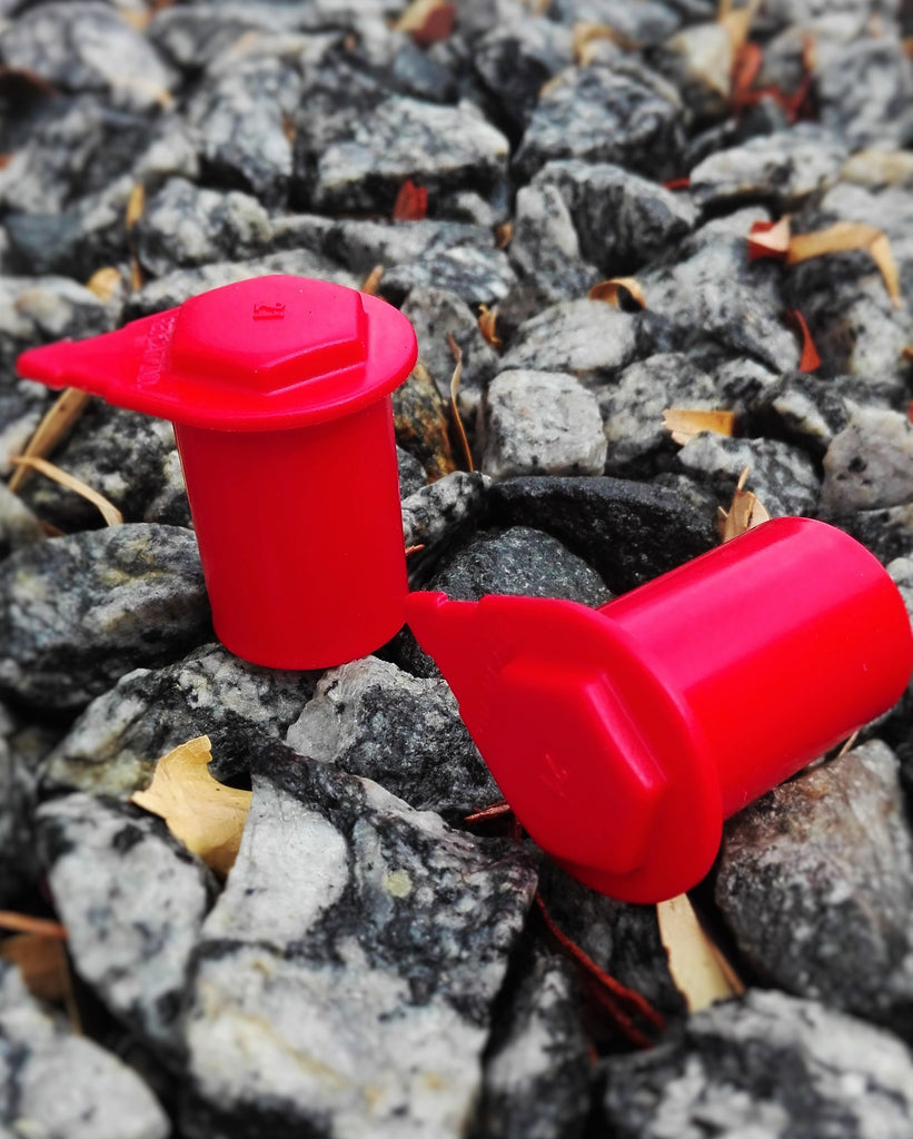 Australian Made Red Loose Wheel Nut Indicators by NutWare